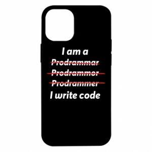 Etui na iPhone 12 Mini I write code