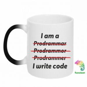 Kubek-kameleon I write code