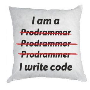 Pillow I write code
