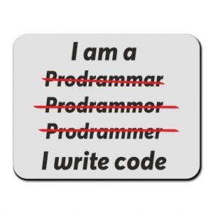 Mouse pad I write code
