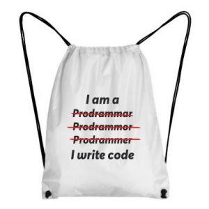 Backpack-bag I write code
