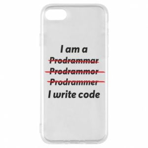 Phone case for iPhone 7 I write code