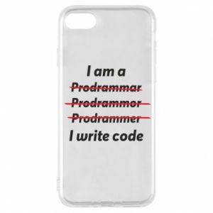 Phone case for iPhone 8 I write code