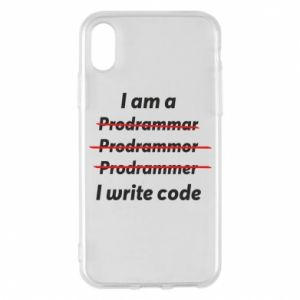 Phone case for iPhone X/Xs I write code