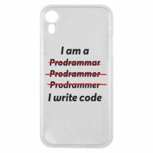 Phone case for iPhone XR I write code