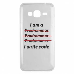 Phone case for Samsung J3 2016 I write code