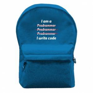 Plecak z przednią kieszenią I write code