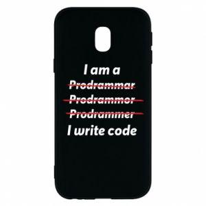 Phone case for Samsung J3 2017 I write code
