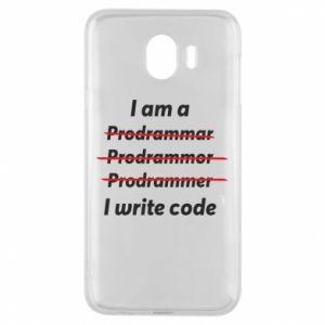 Phone case for Samsung J4 I write code