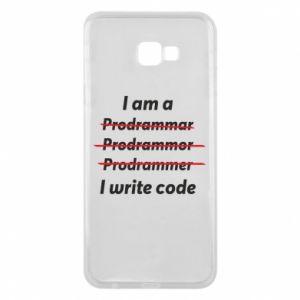 Phone case for Samsung J4 Plus 2018 I write code