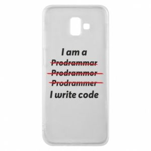 Phone case for Samsung J6 Plus 2018 I write code