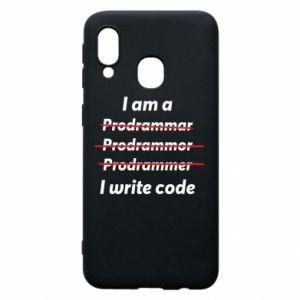 Phone case for Samsung A40 I write code