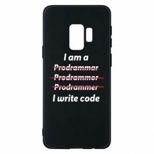Phone case for Samsung S9 I write code