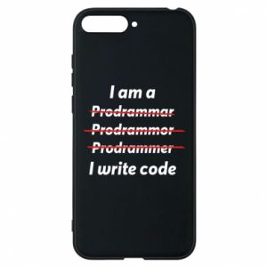 Phone case for Huawei Y6 2018 I write code