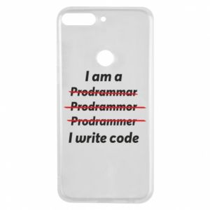 Phone case for Huawei Y7 Prime 2018 I write code