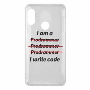 Phone case for Mi A2 Lite I write code
