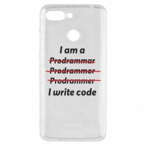 Phone case for Xiaomi Redmi 6 I write code