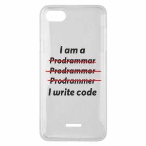 Phone case for Xiaomi Redmi 6A I write code