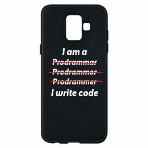 Phone case for Samsung A6 2018 I write code
