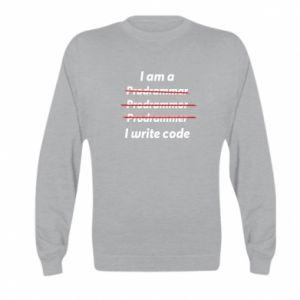 Bluza dziecięca I write code