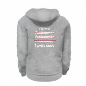 Bluza na zamek dziecięca I write code