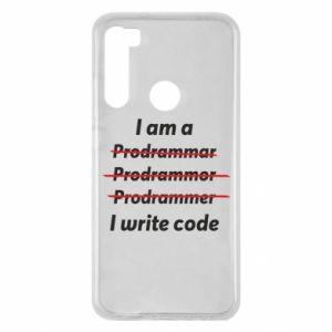 Etui na Xiaomi Redmi Note 8 I write code