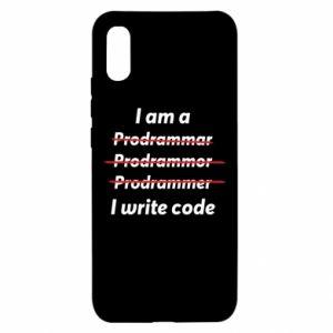 Etui na Xiaomi Redmi 9a I write code
