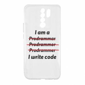 Etui na Xiaomi Redmi 9 I write code