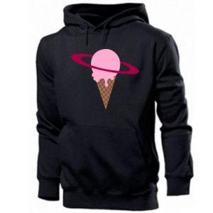 Męska bluza z kapturem Ice cream planet - PrintSalon