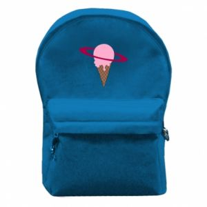 Backpack with front pocket Ice cream planet
