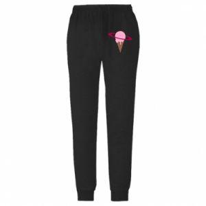 Męskie spodnie lekkie Ice cream planet - PrintSalon