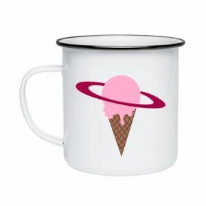 Kubek emaliowane Ice cream planet