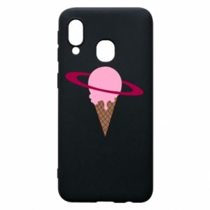 Phone case for Samsung A40 Ice cream planet