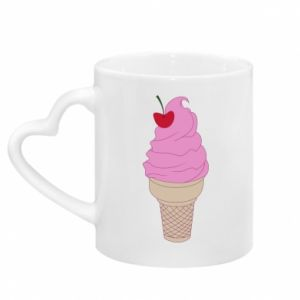 Kubek z uchwytem w kształcie serca Ice cream with cherry