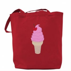 Bag Ice cream with cherry