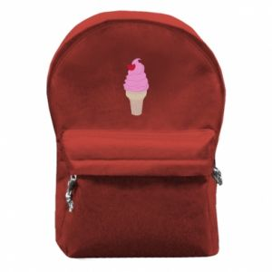 Backpack with front pocket Ice cream with cherry