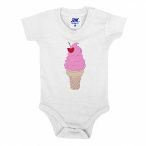 Baby bodysuit Ice cream with cherry