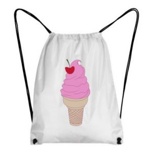 Backpack-bag Ice cream with cherry