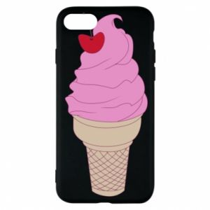 Phone case for iPhone 7 Ice cream with cherry