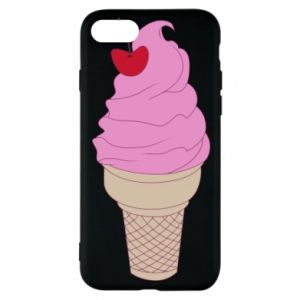 Phone case for iPhone 8 Ice cream with cherry
