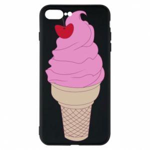 Phone case for iPhone 8 Plus Ice cream with cherry