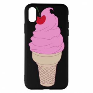 Phone case for iPhone X/Xs Ice cream with cherry