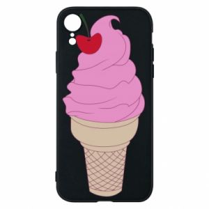 Phone case for iPhone XR Ice cream with cherry