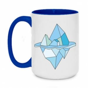 Two-toned mug 450ml Ice floe