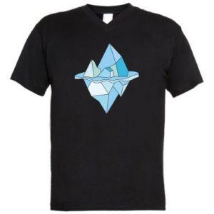 Męska koszulka V-neck Ice floe