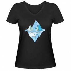 Damska koszulka V-neck Ice floe