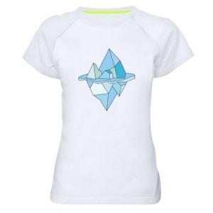 Damska koszulka sportowa Ice floe