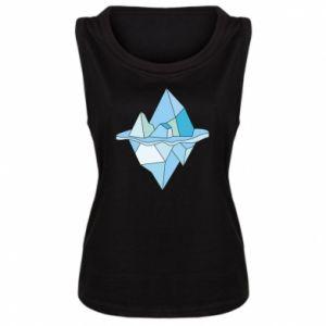 Damska koszulka bez rękawów Ice floe