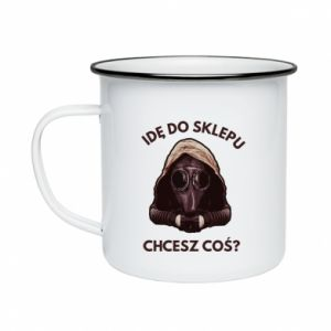 Enameled mug I'm going to the store