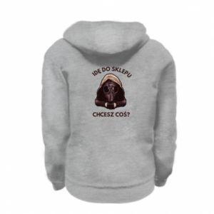 Kid's zipped hoodie % print% I'm going to the store